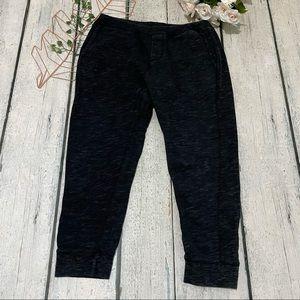 Men's Roots medium sweatpants joggers black gray
